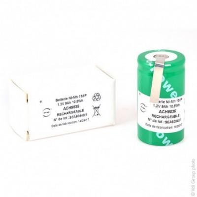 Accus Nimh industriels D. 1.2V 9Ah HBL