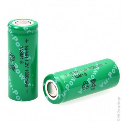 Accus Nimh industriels 4-5A 1ASM1-8 1.2V 1800mAh FT