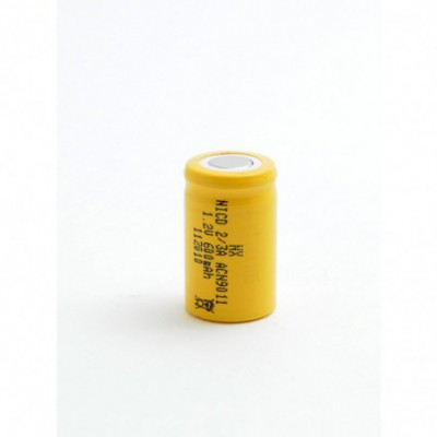 Accus Nicd industriels 2-3A 1.2V 650mAh FT