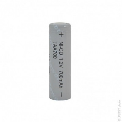 Accus Nicd industriels AA 1AA700 1.2V 700mAh FT