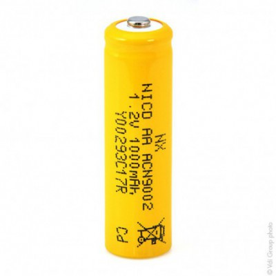Accus Nicd industriels AA 1.2V 1000mAh CT