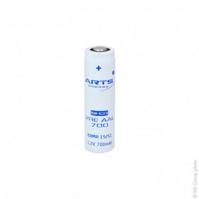 Accus Nicd industriels VRE AAL 1.2V 700mAh FT