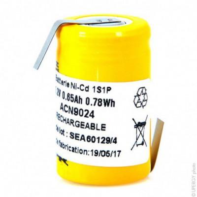 Accus Nicd industriels 2-3A 1.2V 650mAh HBL
