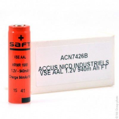 Accus Nicd industriels VSE AAL 1.2V 940mAh FT