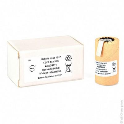 Accus Nicd NC-2500 SCR 1.2V 2400 mAh HBL