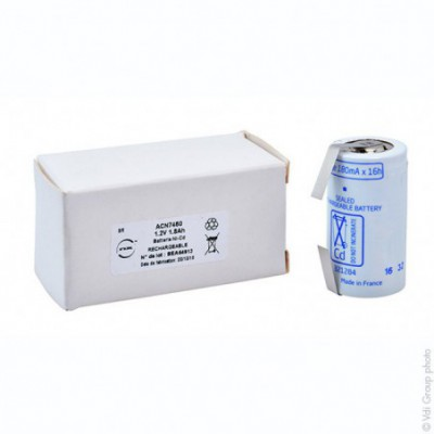 Accus Nicd VRE 1800 SC 1.2 volts 1800 mah T2