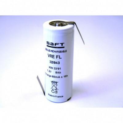 Accus Nicd VRE FL 1.2 volts 8000 mah HBL