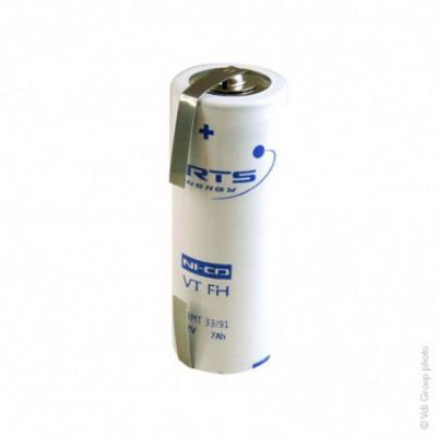 Accus Nicd VT F 1.2 volts 7 ah T2