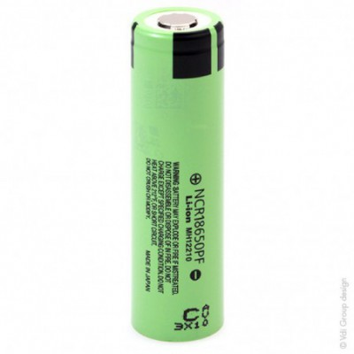 Accus Lithium-Ion PANASONIC NCR18650PF 3.6 volts 2.9 ah FT