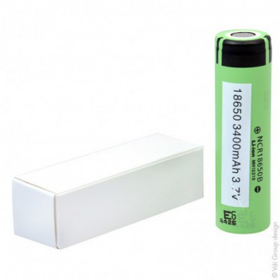 Accus Lithium-Ion PANASONIC NCR18650B 3.6 volts 3.400 mah FT
