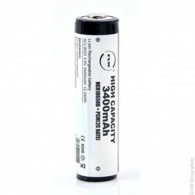 Accus Lithium-Ion NCR18650B + PCM 3.6 volts 3.4 ah CT