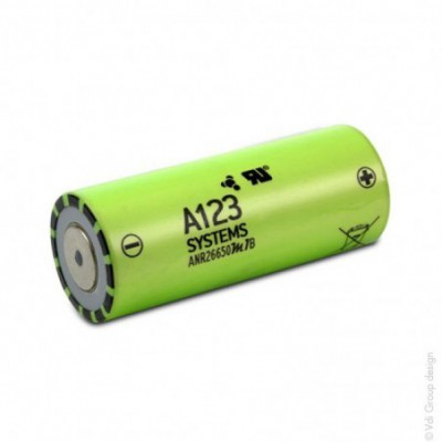 Accus Lithium Fer Phosphate ANR26650 A123 LiFePO4 HD 3.2 volts 2.5 ah