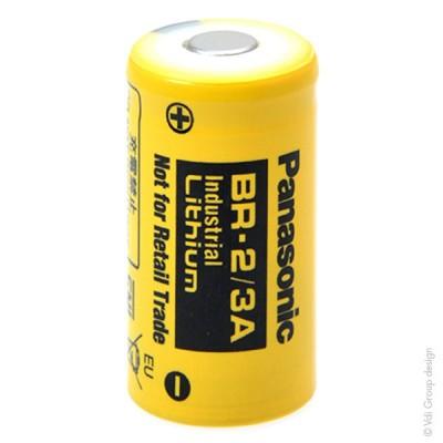 Pile lithium industrie BR2/3A 3V 1.2Ah FT
