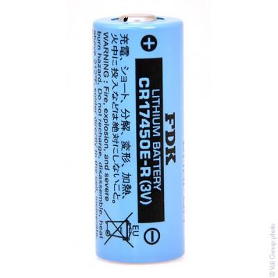 Pile lithium industrie CR17450E-R 3V 2.4Ah