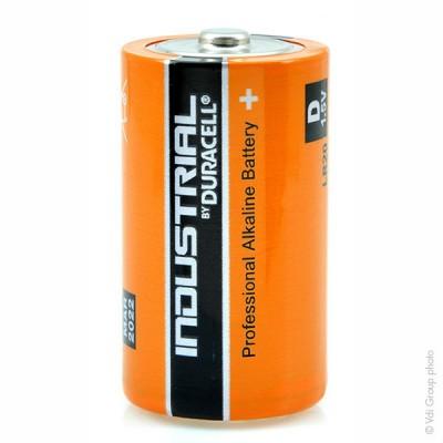 Pile alcaline LR20 - D Duracell Industrial Boite de 10 1.5V 18Ah