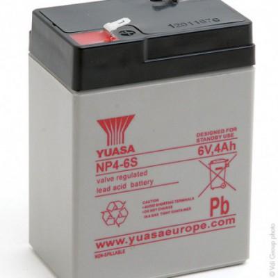 Batterie plomb AGM YUASA NP4-6 6V 4Ah
