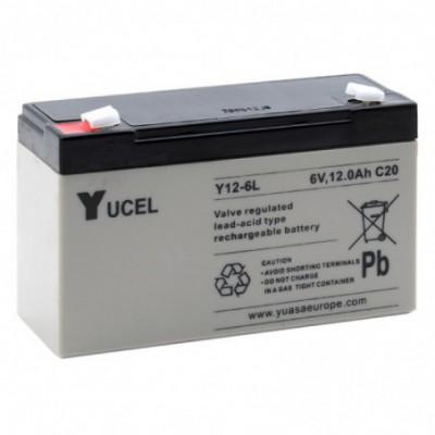 Batterie plomb AGM YUCEL Y12-6L 6V 12 Ah