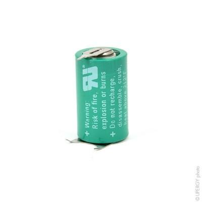 Pile lithium industrie 1/2AA PCB 3V 950mAh