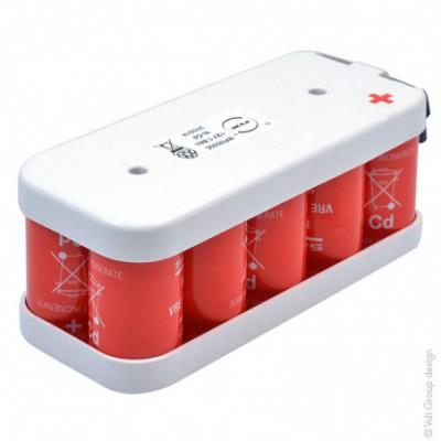 Batterie Nicd 10x SC VRE 10S1P ST2 12V 1.8Ah Cosse