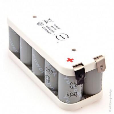 Batterie Nicd 10x C 10S1P ST2 12V 2.8Ah Cosse