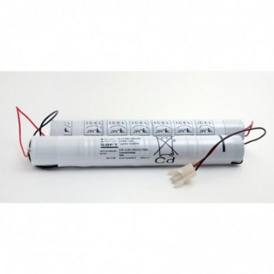 Batterie eclairage secours 4+4 VNT DH U 9.6V 4000mAh