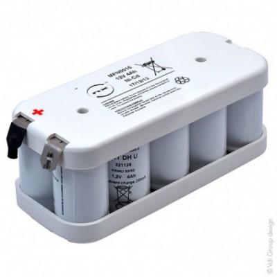 Batterie eclairage secours 10x D VNTD 10S1P ST2 12V 4Ah Cosse