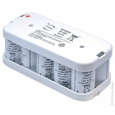 Batterie eclairage secours 10x D VRE 5S2P ST2 6V 9Ah Cosse