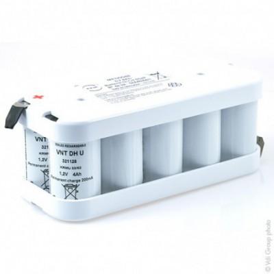 Batterie Nicd 10x D VNT 5S2P ST2 6V 8Ah Cosse