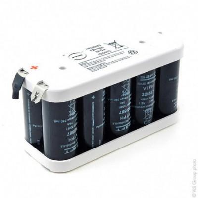 Batterie Nicd 10x F VT 10S1P ST2 12V 7Ah Cosse
