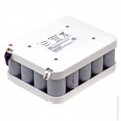 Batterie Nicd 20x D 20S1P ST2 24V 5Ah Cosse