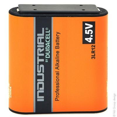 Pile alcaline 3LR12 Duracell Industrial Boite de 10 4.5V 5.4Ah