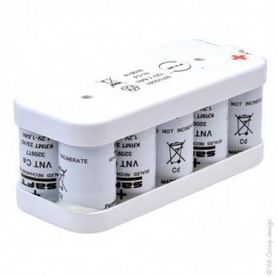 Batterie eclairage secours 10x SC VNT 10S1P ST2 12V 1.6Ah T2
