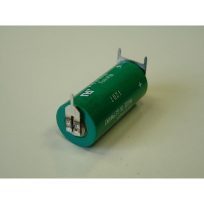 Pile lithium industrie 2/3AA 3V 1350mAh 3PF