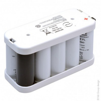 Batterie Nicd 9VRE FL 8000 10.8V 8Ah FAST