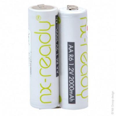 Batterie Nimh 2x AA NX 2S1P ST1 2.4V 2000mAh T2