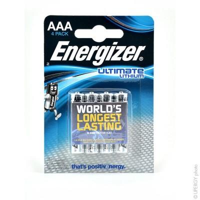 Pile lithium blister EL92 AAA 1.5V 1250mAh Bl4