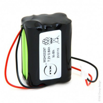 Batterie Nimh 6x AAA NX 6S1P ST2 7.2V 800mAh Molex