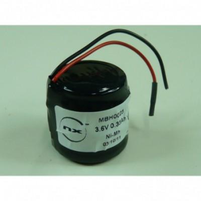 Batterie Nimh 3x V350H 3S1P ST4 3.6V 350mAh Fils