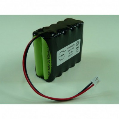 Batterie Nimh 10x AAA NX 10S1P ST2 12V 800mAh JST