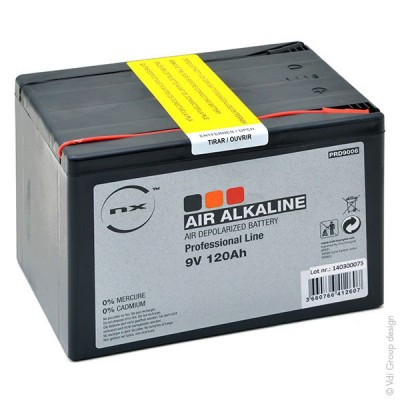 Pile depolarisation air alcaline 9V 120Ah