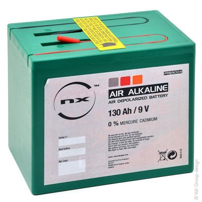 Pile depolarisation air alcaline 9V 150Ah