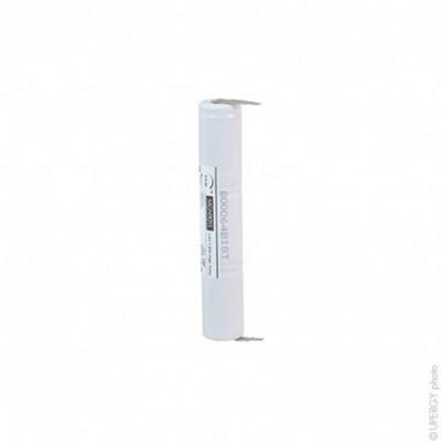 Batterie eclairage secours 3xSC ST4 Faston 4.8mm+ 2.8mm 3.6V 1.6Ah