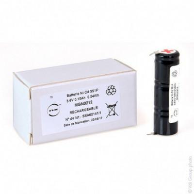 Batterie Nicd 3x 1-3AA  3S1P ST4 3.6V 150mAh P2