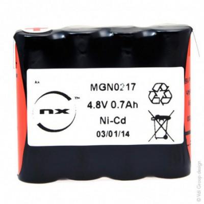 Batterie Nicd 4x AA VRE 4S1P ST1 4.8V 700mAh T2