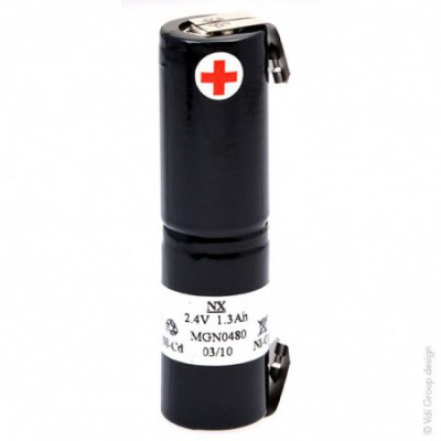 Batterie Nicd 2x SC NX 2S1P ST4 2.4V 1.6Ah Cosse