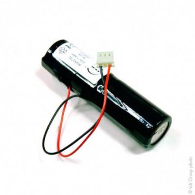 Batterie eclairage secours 2x SC VNT 2S1P ST4 2.4V 1.6Ah Molex