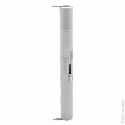 Batterie eclairage secours 5xSC ST4 Faston 4.8mm (+2.8mm) 6V 1.6Ah