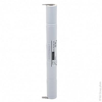 Batterie eclairage secours 5xSC ST4 Faston 6.3mm+2.8mm 6V 1.6Ah