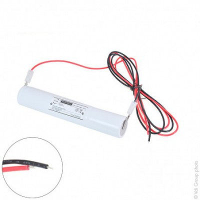 Batterie eclairage secours 3xD ST4 + support +  fils  3.6V 4Ah