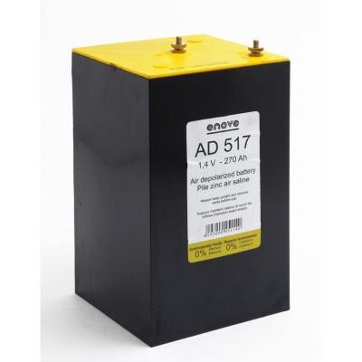 Pile depolarisation air saline AD517 1.4V 270Ah